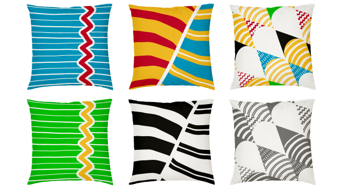 Robert Bothma Design Handmade Cushions Colourful