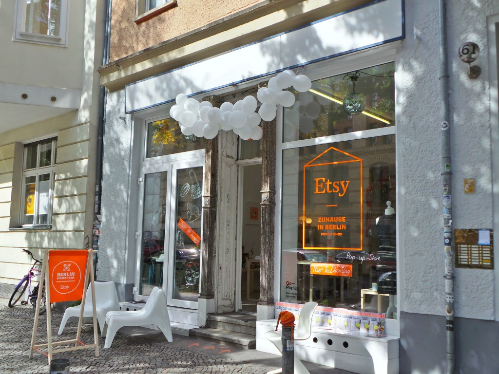 Etsy Berlin pop up shop front