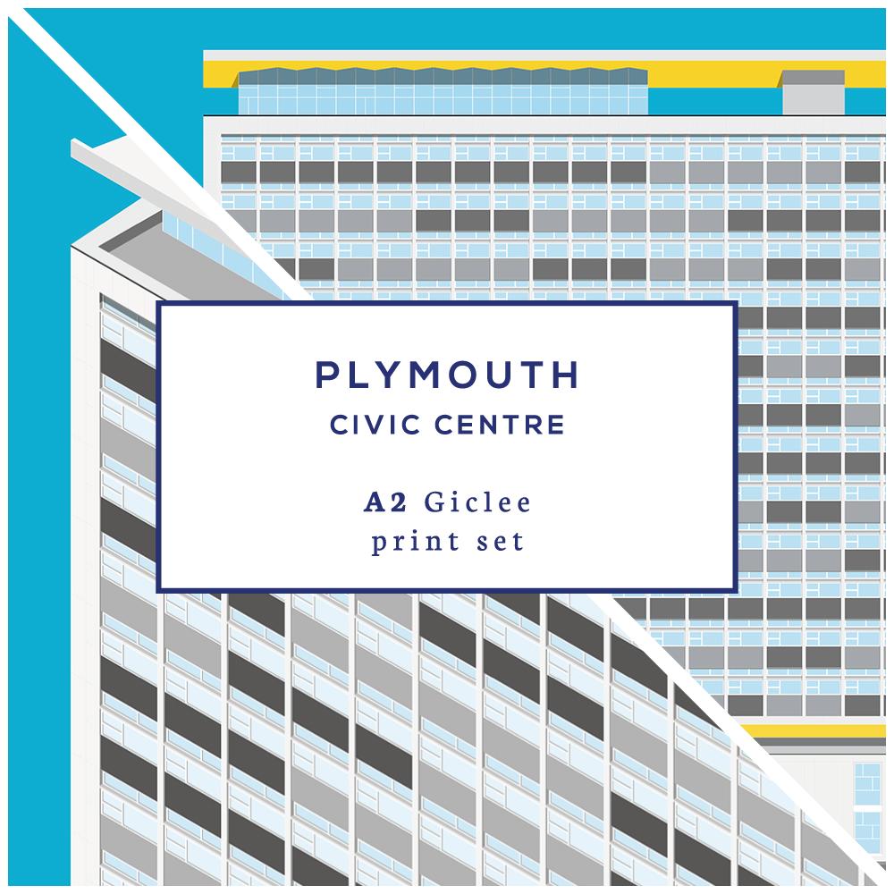 A2 Plymouth Civic Centre Print Set