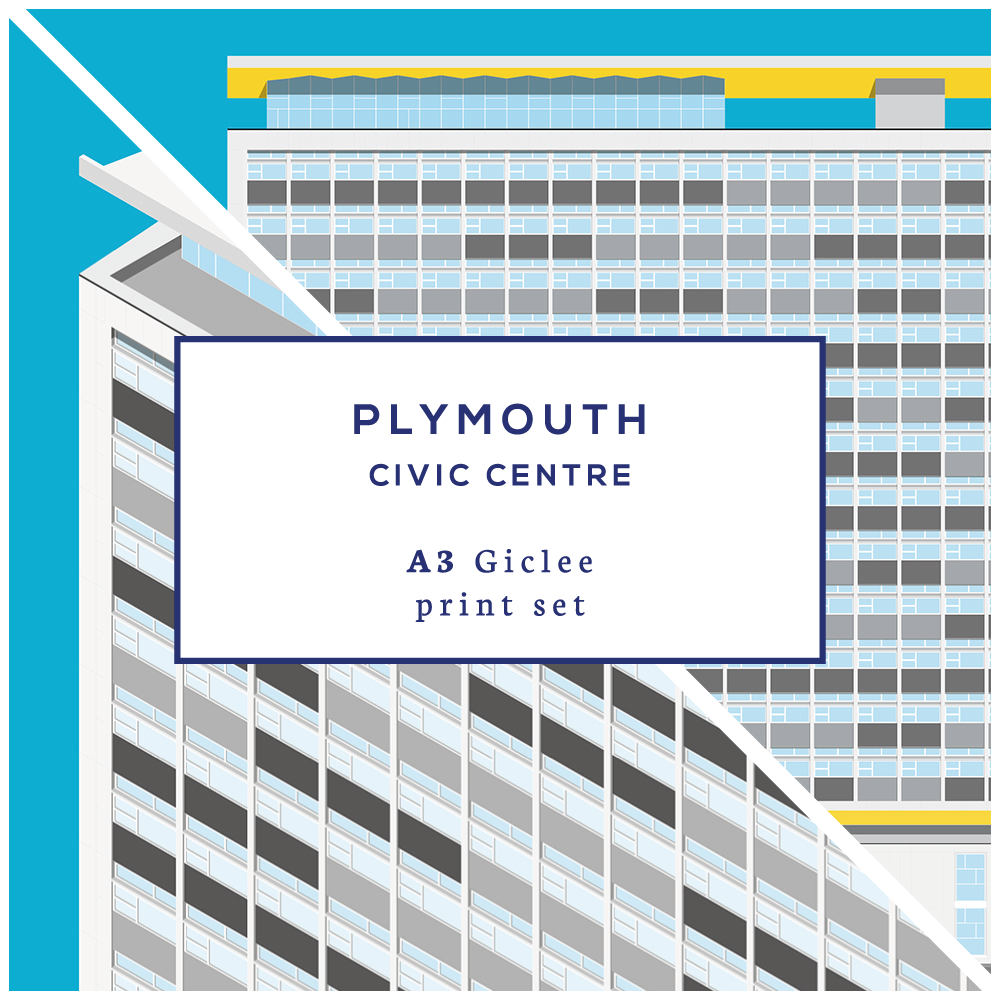 A3 Plymouth Civic Centre Print Set