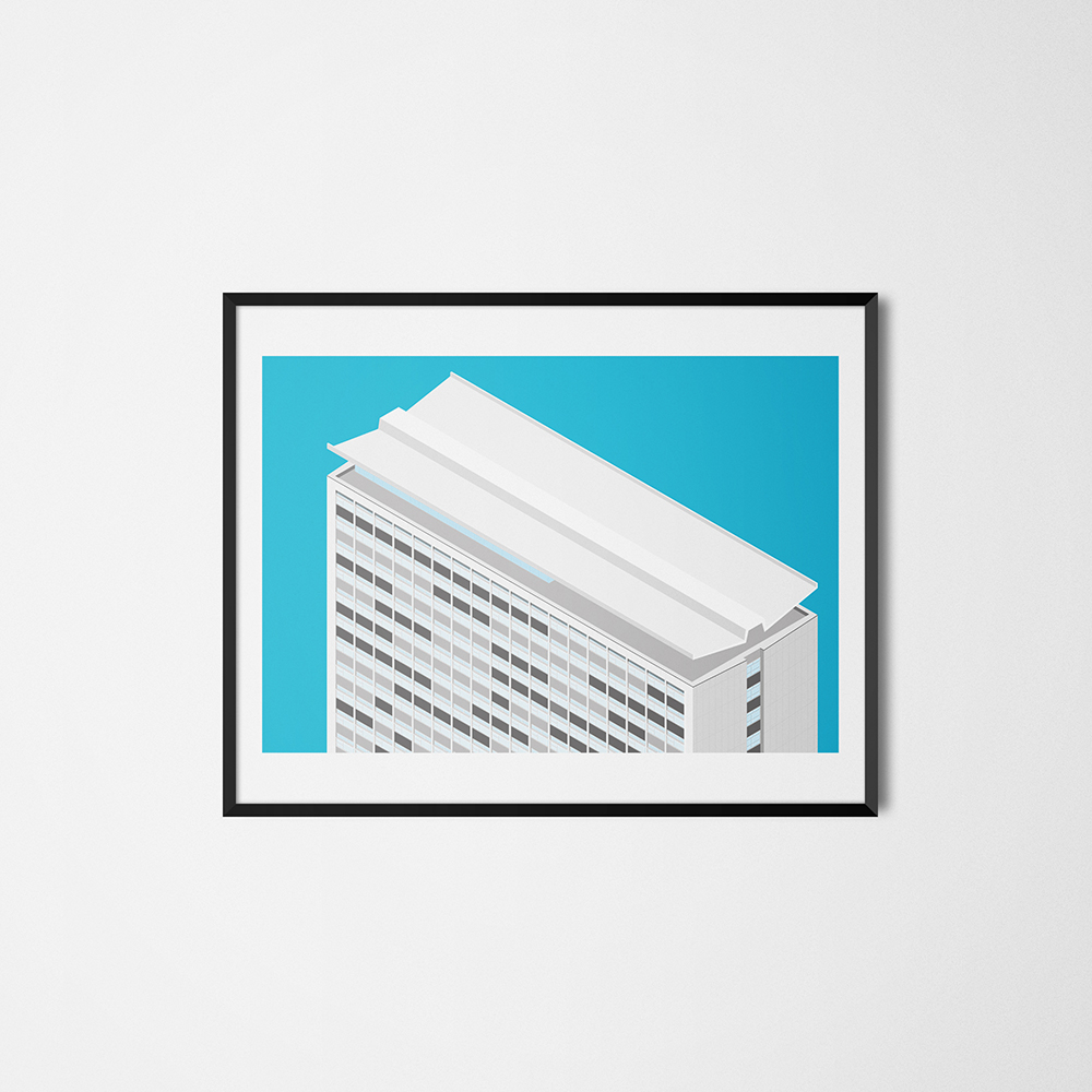 Plymouth Civic Centre Tower Print